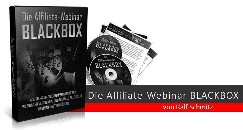 Affiliate-Webinar Blackbox von Ralf Schmitz
